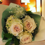 薔薇と紫陽花と向日葵